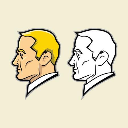 vierkante kaak gezicht