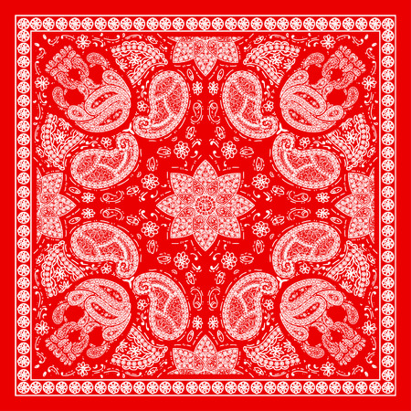 shawl: Red Bandanna Illustration