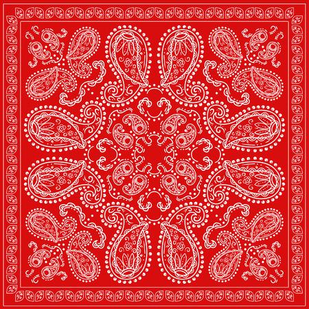 Red Bandanna  イラスト・ベクター素材