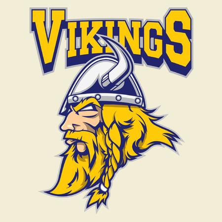 vikingo: vikingo guerrero mascota Vectores