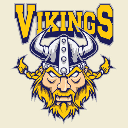 viking warrior mascotte Stock Illustratie