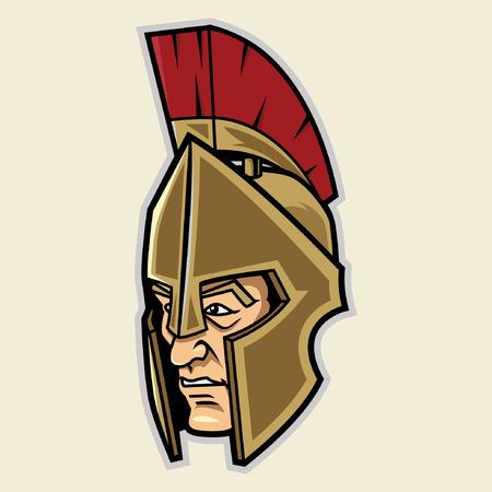 spartaans hoofd mascotte