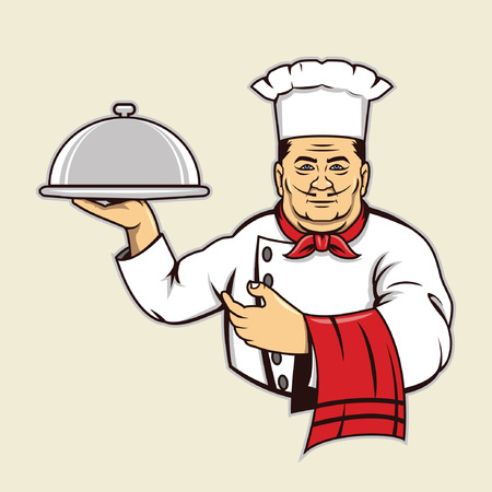 요리사 일러스트