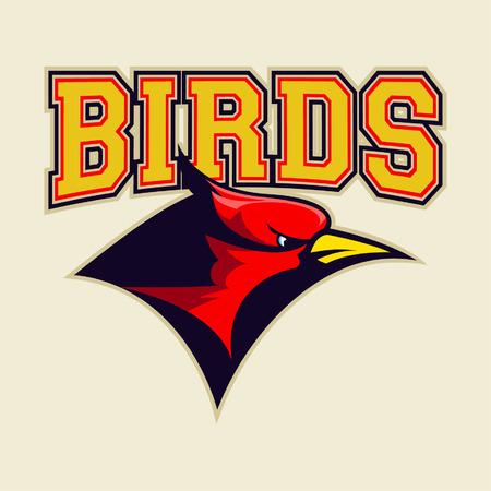 cardinal bird logo Ilustracja