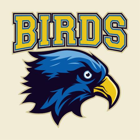Blue Eagle Head Logo
