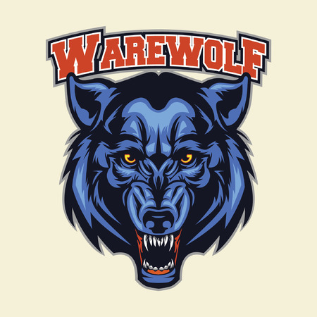 werewolf head mascot Illustration