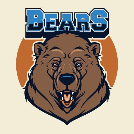 クマのマスコットを頭します。  イラスト・ベクター素材