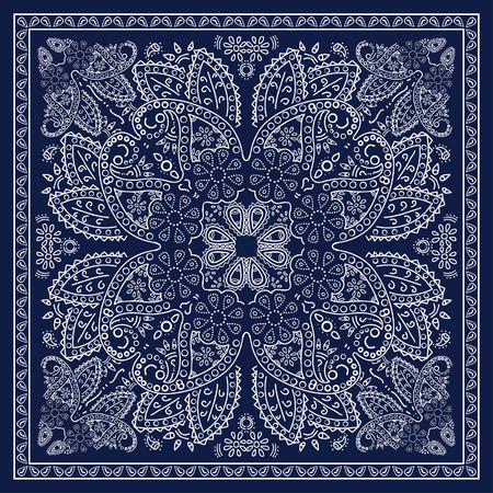 Blue Bandana Stockfoto - 44102393