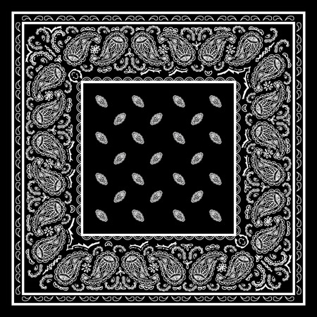 kerchief: Black Bandanna
