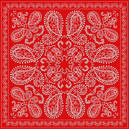 赤いバンダナ  イラスト・ベクター素材
