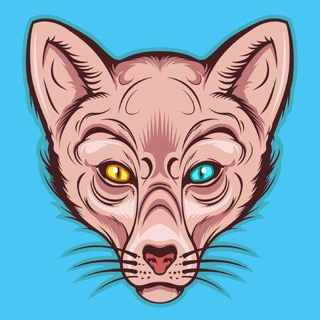 Sphynx kat mascotte