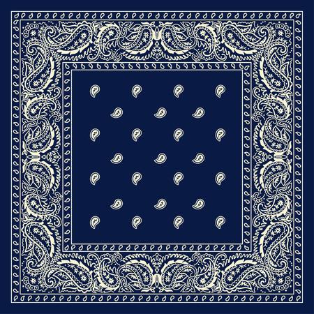 Blaue Bandana- Standard-Bild - 44826304