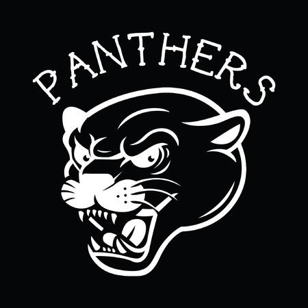 leopard: Panther Tattoo Mascot