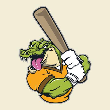 krokodil basebal mascotte