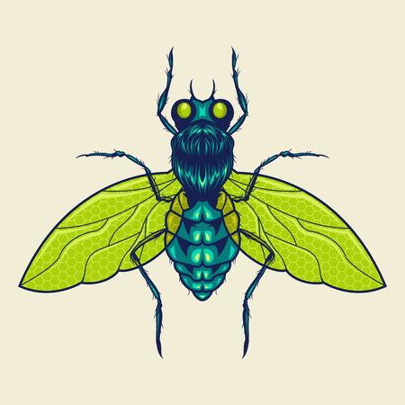 Flies Mascot Illustration