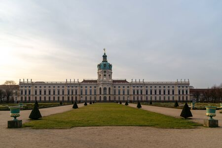 Berlin, Germany. February 19, 2019. Charlottenburg castle in Berlin, Germany. View on the palace from the park.