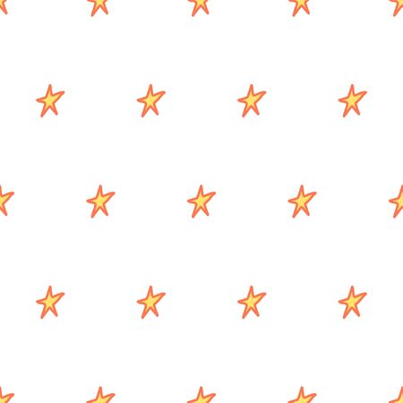 Hand drawn star seamless pattern for wallpaper design, print, wrapping paper, fabric texture. Vector vintage bright background. Illusztráció