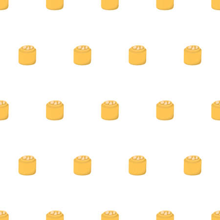 Dimsum seamless pattern in flat style on white background. Traditional chinese food.