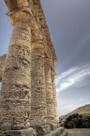 Segesta, sicily, italy doric temple columns Stock Photo - 4299403