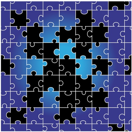 Vector seamless puzzle Stock Vector - 11446180