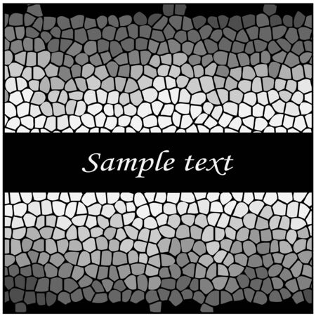 shiny black: Vector silver mosaic design Illustration