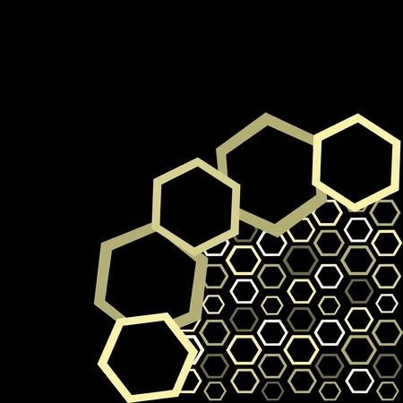 digital printing: Vector wallpaper of honey Illustration