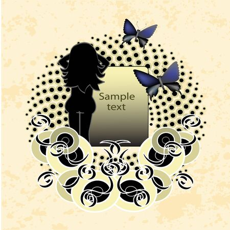 Vector design on the blot wallpaper Stock Vector - 11446063