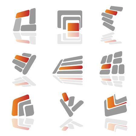 divided: Collection of vector symbols