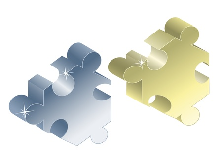 Vector pieces of puzzle Vector