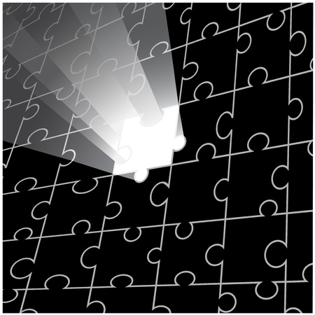 Vector puzzle design Stock Vector - 11446200