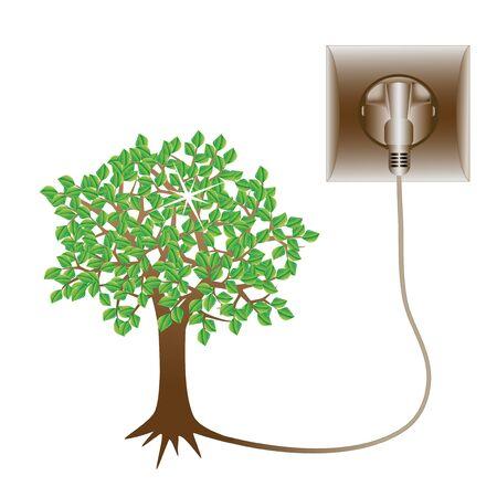 socket: Vector green energy Illustration
