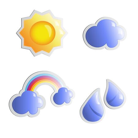 Vector weather stickers Vector