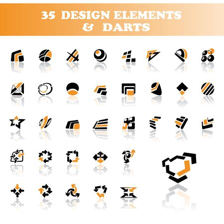 Vector design elements and darts Stock Vector - 11446105