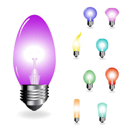 Vector color light-bulbs  Vector