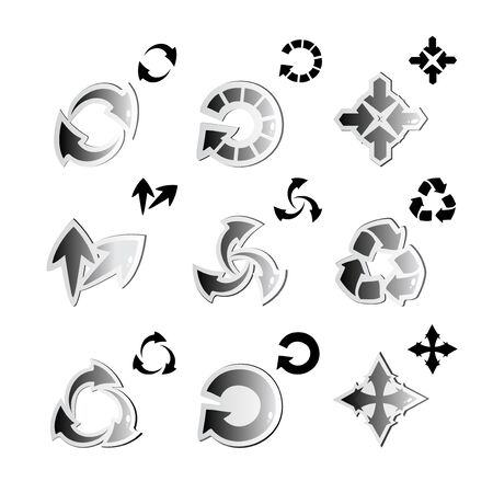 Vector set of arrows Stock Vector - 11446320