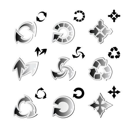 Vector set of arrows Stock Vector - 11446320