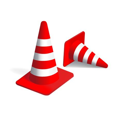 road works: Vector traffic Cones