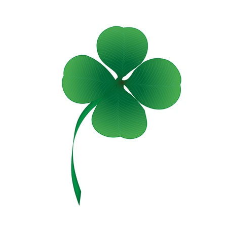 four objects: Vector four leaf clover