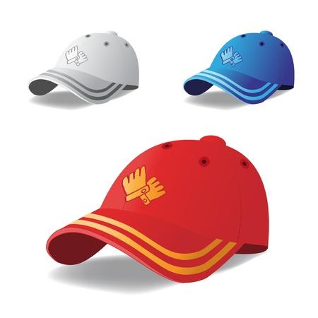 baseball cap: Vector set of caps
