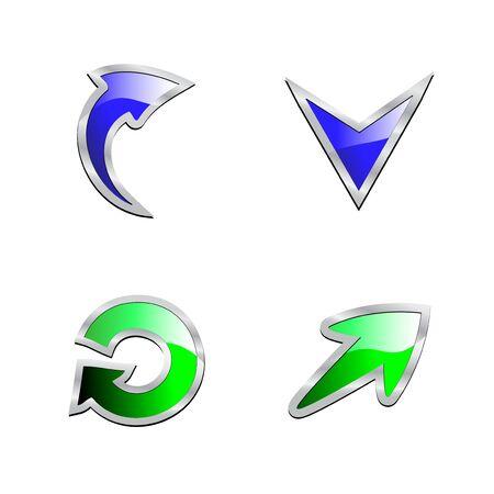 bent: Vector set of arrows