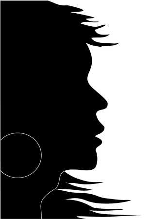Vector woman silhouette Stock Vector - 11446469