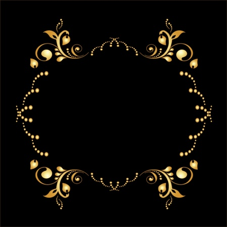 Vector golden frame Stock Vector - 11446311