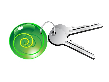 steel door: Vector keys