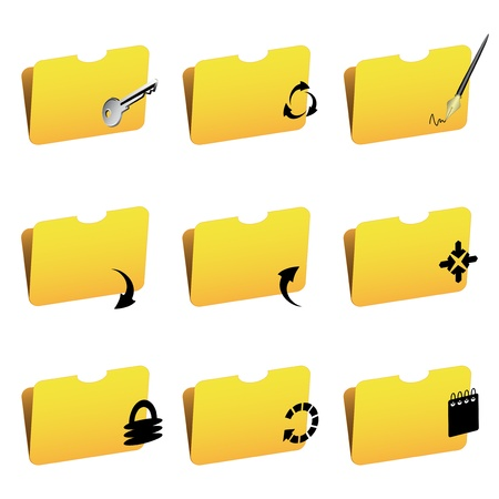 Vector folder icons Stock Vector - 11446301