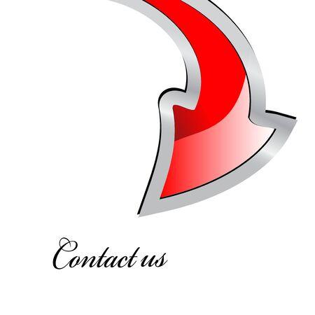 Vector - dart point at Contact us Stock Vector - 11446451