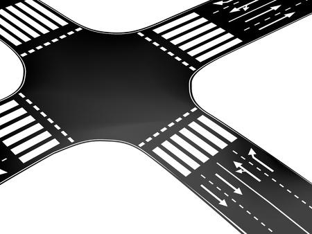 cruce de caminos: Vector de cruce
