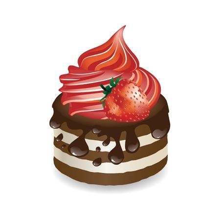 trozo de pastel: Vector de postre