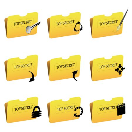 Vector folder icons Stock Vector - 11446201