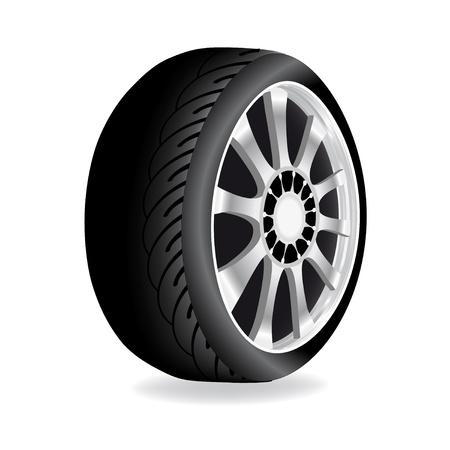 Vector wheel - car, automobile