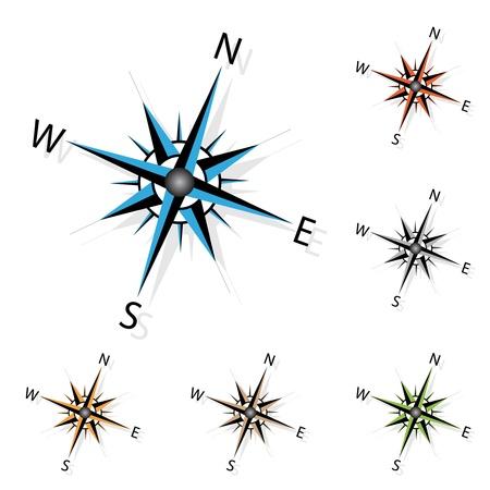 compass rose: Vector compass